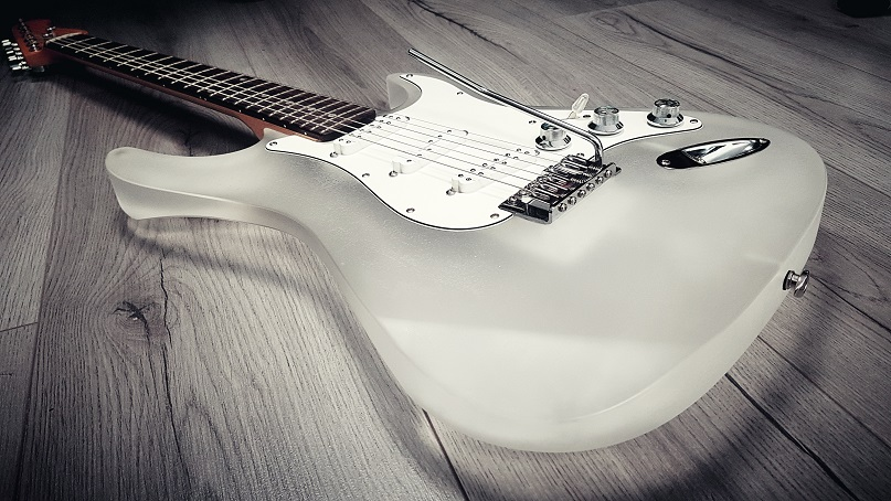 Wintercaster electric guitar side image