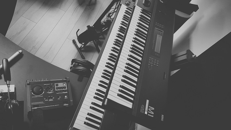Korg M1 and M-Audio Keystation 88ES keyboards