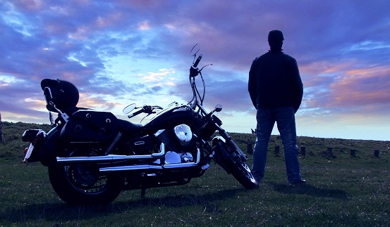 Profile picture with motorbike and sunset 4